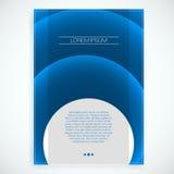 Abstract Cover Design - EPS10 Brochure Template. Abstract Circle EPS10 Brochure Template Royalty Free Stock Photos