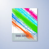 Abstract cover design template. With colorful brush strokes Stock Photography