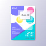 Abstract cover design template. Abstract cover design colorful illustration Stock Photography