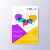 Abstract cover design template. Abstract cover design with colorful speech bubbles Royalty Free Stock Photos