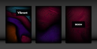 Abstract Cover Design Templates Set. stock illustration