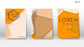 Abstract cover with hexagon elements. book design concept. Futuristic business layout. Digital poster template. Design Vector - eps10 stock illustration
