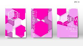 Abstract cover with hexagon elements. book design concept. Futuristic business layout. Digital poster template. Design Vector - eps10 royalty free illustration