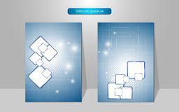 Abstract cover page template design rectangle pattern tech innovation concept. Eps 10 royalty free illustration