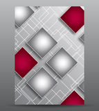 Abstract cover with squares. For your business and design royalty free illustration