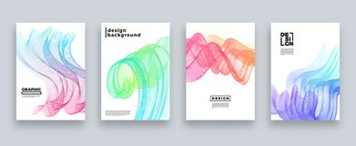 Abstract cover template set, Modern design with gradients Stock Images
