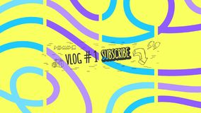 Abstract Cover For Vlog Video Blog Social Media Channel Vector Graphic.  stock illustration