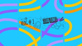 Abstract Cover For Vlog Video Blog Social Media Channel Vector Graphic.  royalty free illustration