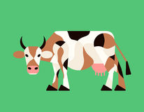Abstract cow. Vector. Royalty Free Stock Images