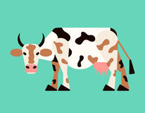 Abstract cow. Vector. Royalty Free Stock Image
