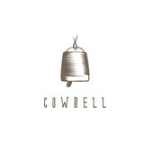 Abstract cowbell with rope vector design Royalty Free Stock Images