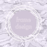 Abstract crack frame design. Modern stylized background Royalty Free Stock Images