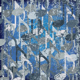 Abstract cracked background musical note. Abstract cracked background blue musical note Stock Photo