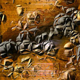 Abstract cracked background of rusty metal structure with bumps resembling  surface of a planet Stock Photography