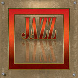 Abstract cracked background with the word jazz Stock Photo