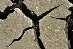 Abstract cracked earth. Global warming concept Stock Photo