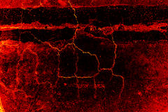 Abstract cracked lava fire. Royalty Free Stock Photography