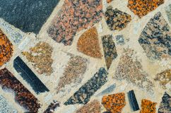 Abstract Mosaic Texture. Abstract Cracked Mosaic Texture from Natural Stones Stock Image