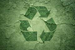 Abstract cracked recycle symbol background Royalty Free Stock Photography
