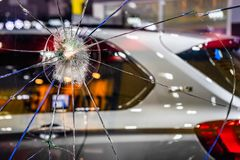 Free Abstract Cracked Window Glass Background. Crash Windshield Glass Of Car. The Broken And Damaged Window Glass Of A Car Background Royalty Free Stock Photo - 143628315