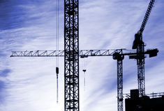 Abstract cranes Stock Image