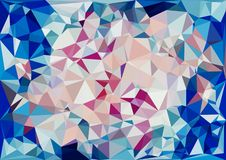 Abstract cream pink blue color shiny low poly bokeh wallpaper Stock Photography