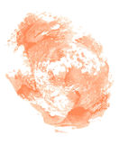 Abstract cream watercolor on white background. Royalty Free Stock Images