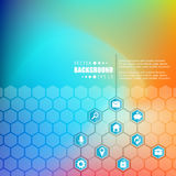 Abstract creatief concepten vector hexagon netwerk met pictogram Stock Foto's