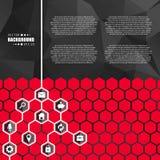 Abstract creatief concepten vector hexagon netwerk met pictogram dat op achtergrond voor Web, mobiele App wordt geïsoleerd Kunsti Stock Foto's