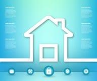 Abstract Creatief concepten vectorhuis voor Web en Mobiele Toepassingen, het ontwerp van het Illustratiemalplaatje, kunstzaken Royalty-vrije Stock Foto