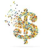 Abstract creatief concepten vectorpictogram van dollar voor Web en Mobiele die Toepassingen op witte achtergrond wordt geïsoleerd Royalty-vrije Stock Afbeelding
