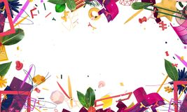 Abstract creatief kader Royalty-vrije Stock Fotografie
