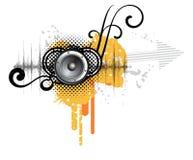 Abstract creatief muziekontwerp Royalty-vrije Stock Afbeeldingen