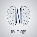 Abstract creatief neurologieconcept met menselijke hersenen vector illustratie