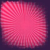 Abstract Creatief van de het pop-artstijl van de concepten vectorstrippagina leeg de lay-outmalplaatje met van wolkenstralen en p Royalty-vrije Stock Afbeelding