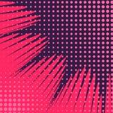 Abstract Creatief van de het pop-artstijl van de concepten vectorstrippagina leeg de lay-outmalplaatje met van wolkenstralen en p stock illustratie