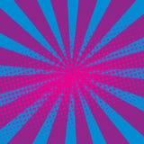 Abstract Creatief van de het pop-artstijl van de concepten vectorstrippagina leeg de lay-outmalplaatje met van wolkenstralen en p Stock Fotografie