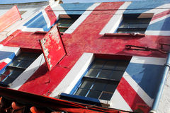 Abstract Creatine Union Jack. Abstract Creative Colourfull  Union Jack Building England Stock Image