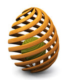 Abstract creative 3d Easter egg Royalty Free Stock Photos