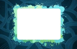 Abstract creative background. With empty white card for text Royalty Free Stock Photography