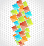 Abstract creative background with colorful square Stock Photo