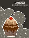 Abstract creative birthday background with cake Stock Images