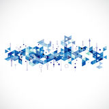 Abstract creative blue triangle template Royalty Free Stock Images