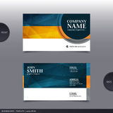 Abstract creative business card.  Vector. Royalty Free Stock Image