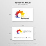 Abstract Creative Business Cards Design Template. Name Cards Sym. Bol. Size 55 mm x 90 mm (2.165 in x 3.54 in).Vector illustration Royalty Free Stock Photography
