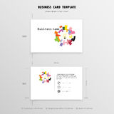 Abstract Creative Business Cards Design Template. Name Cards Sym. Bol. Size 55 mm x 90 mm (2.165 in x 3.54 in). Vector illustration Stock Image
