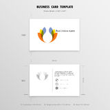 Abstract Creative Business Cards Design Template. Name Cards Sym. Bol. Size 55 mm x 90 mm (2.165 in x 3.54 in).Vector illustration Stock Images