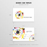 Abstract Creative Business Cards Design Template. Name Cards Sym Stock Photos