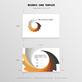 Abstract Creative Business Cards Design Template. Name Cards  Stock Image