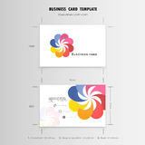Abstract Creative Business Cards Design Template. Name Cards  Royalty Free Stock Photos